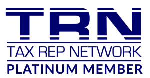 TRN Tax Rep Network Platinum Member certification logo